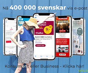 Nå 400 000 svenskar via e-post